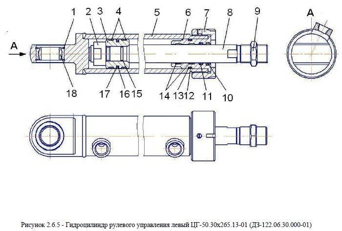 Мост передний от автогрейдера ДЗ-122Б title=