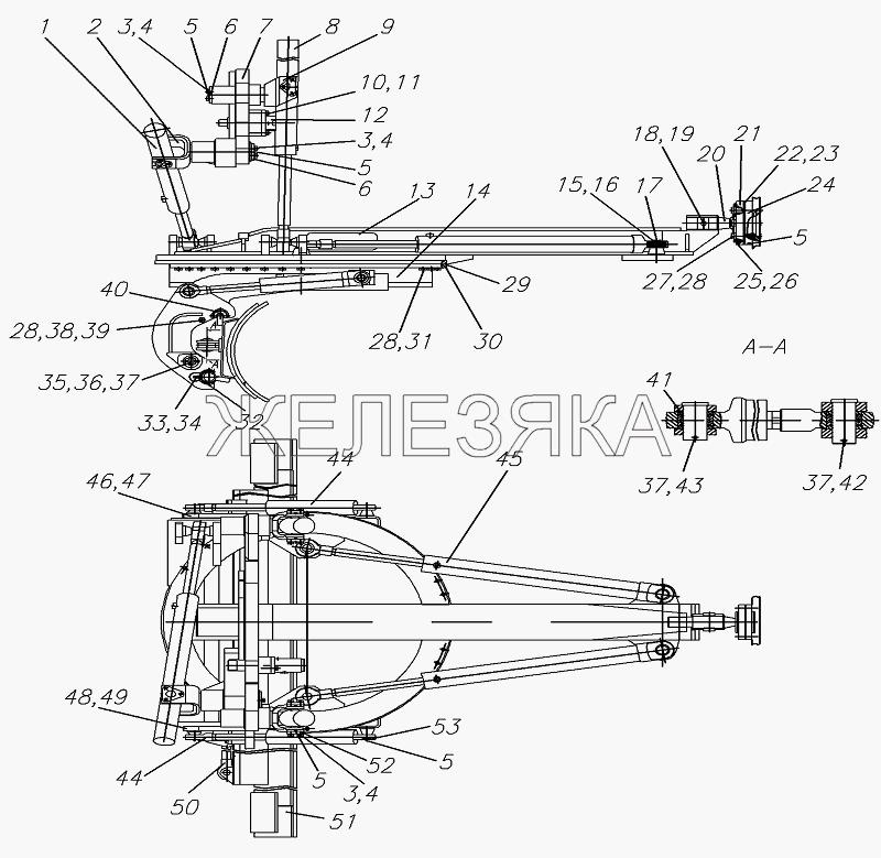 Оборудование рабочее 257.07.00.00.000 от автогрейдера ГС-25.09 title=
