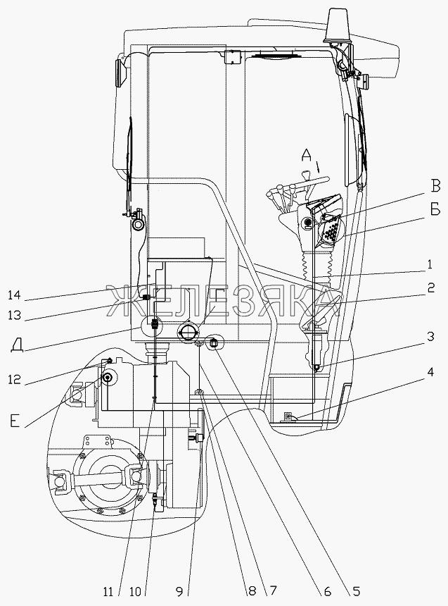 Электрооборудование кабины от автогрейдера ГС-25.09 title=