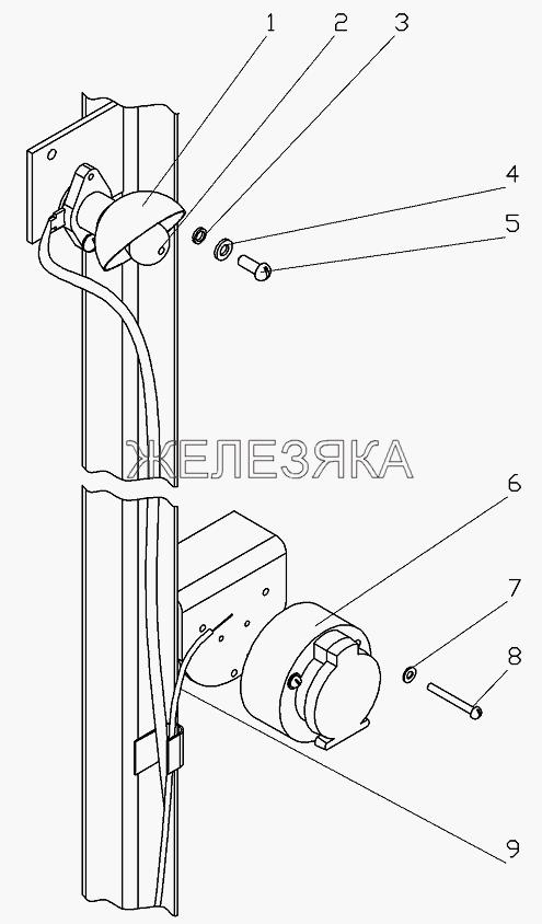 Установка лампы подкапотной и розетки от автогрейдера ГС-25.09 title=