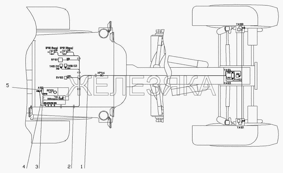 Электрооборудование переднего моста от автогрейдера ГС-25.09 title=