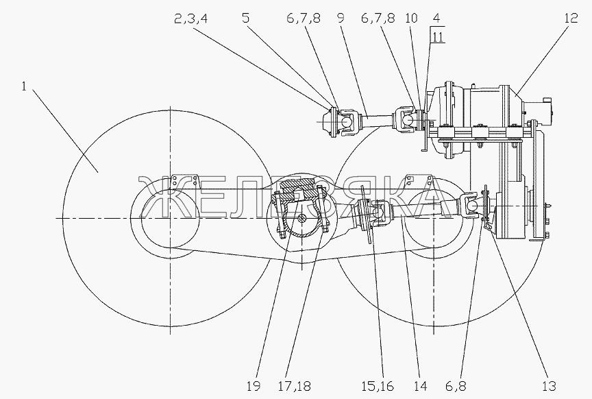 Трансмиссия 257.03.00.00.000 от автогрейдера ГС-25.09 title=