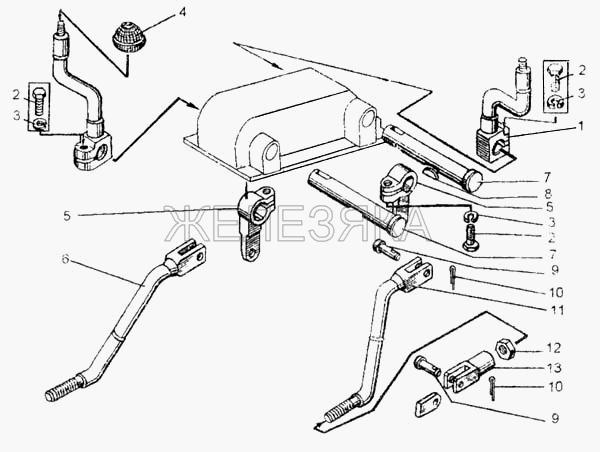 Управление коробкой перемены передач от автогрейдера ДЗ-98 title=