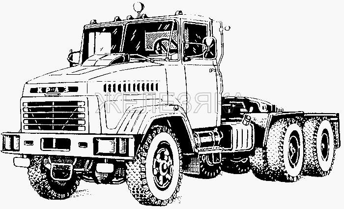 Общий вид автомобиля КрАЗ-6443 (644301) от КрАЗа 6443 title=