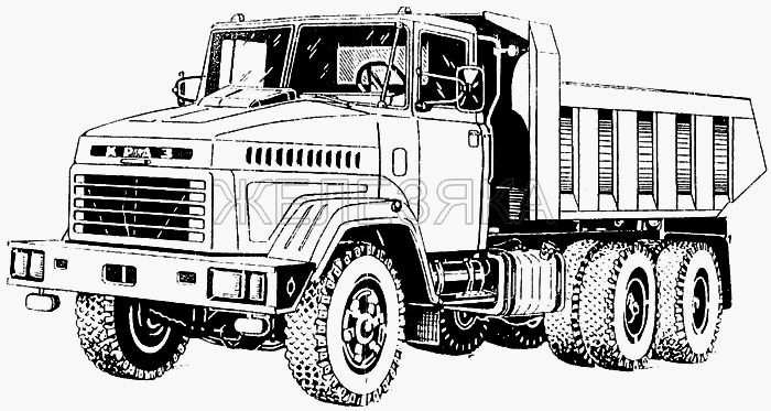 Общий вид автомобиля КрАЗ-65032 (650321) от КрАЗа 6443 title=