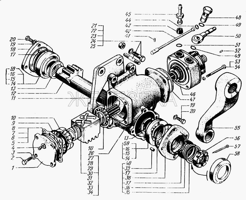 Механизм рулевой с распределителем от КрАЗа 6443 title=