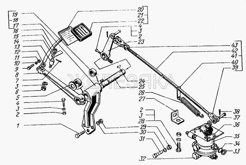 Воздухопроводы и аппараты тормозной системы от КрАЗа 6443 title=