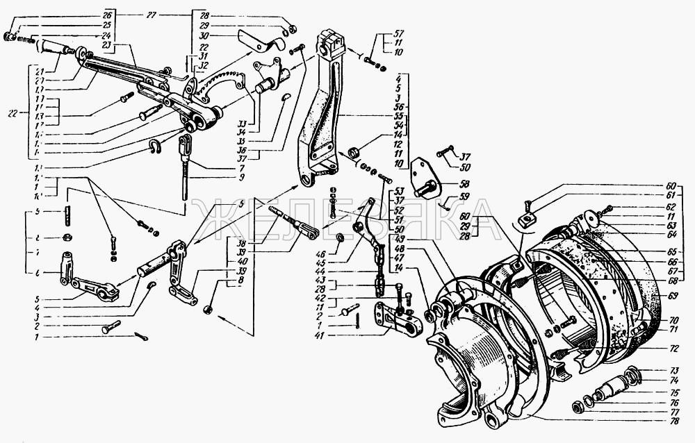 Установка и привод компрессора от КрАЗа 6443 title=