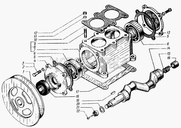 Головка и блок цилиндров компрессора от КрАЗа 6443 title=