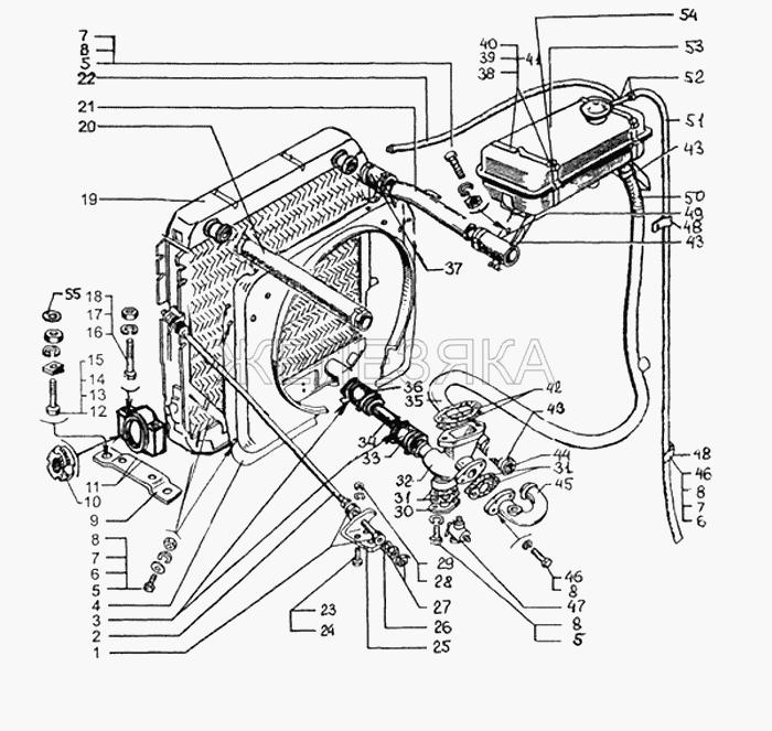 Радиатор с кожухом и расширительным бачком от КрАЗа 65053 title=