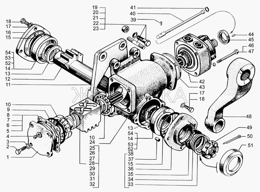 Механизм рулевой с распределителем от КрАЗа 65053 title=