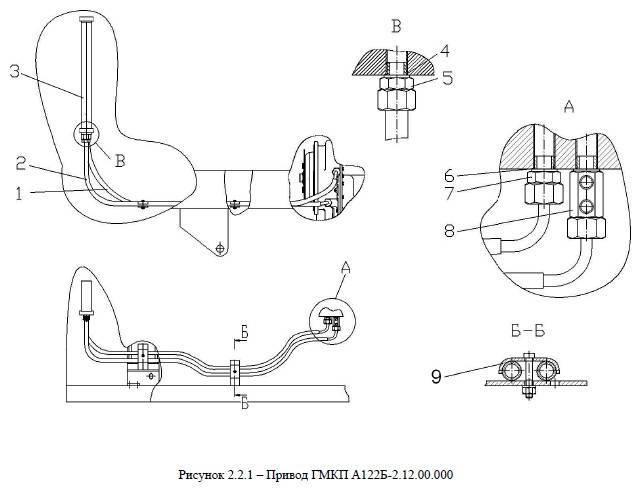 Привод ГМКП А122Б-2.12.00.000 от автогрейдера ДЗ-122Б title=