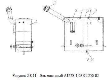 Бак масляный А122Б-1.08.01.250-02 от автогрейдера ДЗ-122Б title=